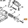 Винт STIHL с цилиндрической головкой IS-Р6 х 19 для MS 200-880 7588