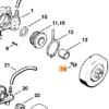 Винт STIHL с цилиндрической головкой IS М4 х 12  для MS 200-880 7630