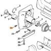 Винт STIHL с цилиндрической головкой IS-М5 х 12 для MS 200-880 7655