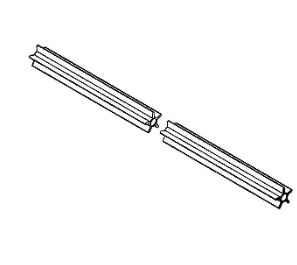 Опорная труба, направляющая вала для мотокосы Stihl FS 55, FS 56, FS 70 (41377117302)