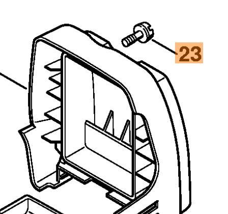 Винт крышки воздушного фильтра для мотокосы Stihl FS 400,450 (41281418000)